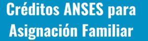 Prestamos Personales de Anses por asignacion familiar